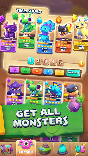 Monster Tales: Multiplayer Match 3 RPG Puzzle Game apkpoly screenshots 5