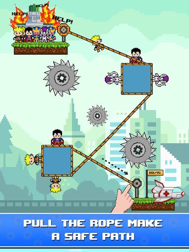 Rope Pixel Master - Rescue Hero Academy 0.14 screenshots 11
