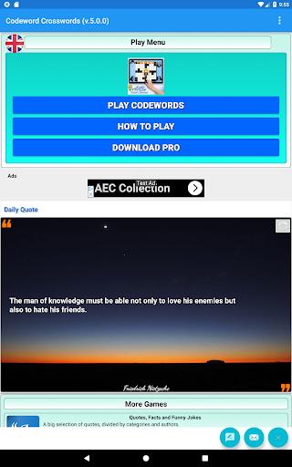 Codeword Puzzles Word games, fun Cipher crosswords 7.5 screenshots 11