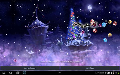 christmas snow fantasy live wallpaper screenshot 2
