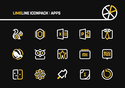 LimeLine Icon Pack Pro Apk: LineX 2.8 (Patched) 5