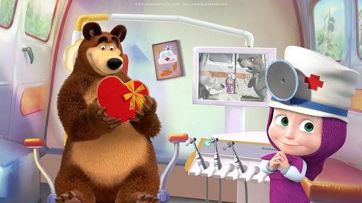 Masha and the Bear: Free Dentist Games for Kids  Screenshots 2