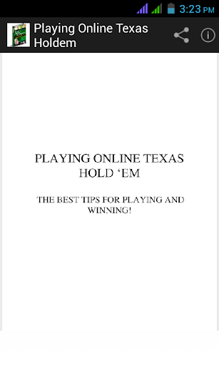 Playing Online Texas Holdem screenshots 1