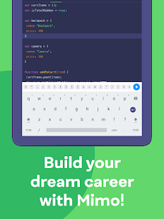 Mimo: Learn coding in JavaScript, Python and HTML Screenshot