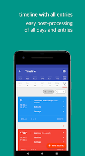 Swipetimes › Time tracker · Work log Screenshot