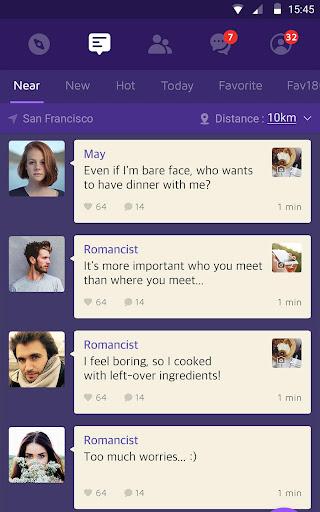 1km - Neighbors, Groups, New relationships apktram screenshots 7