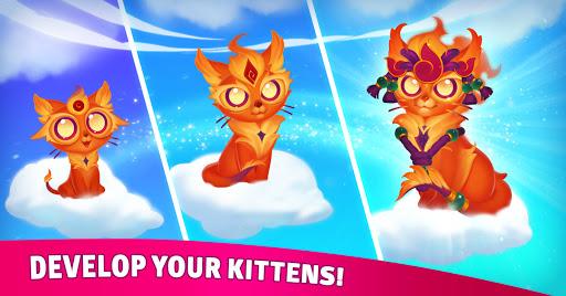 Merge Cats: Magic merging, garden renovation games screenshots 3
