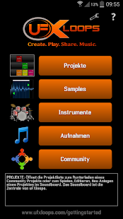 uFXloops Musik Studio Screenshot