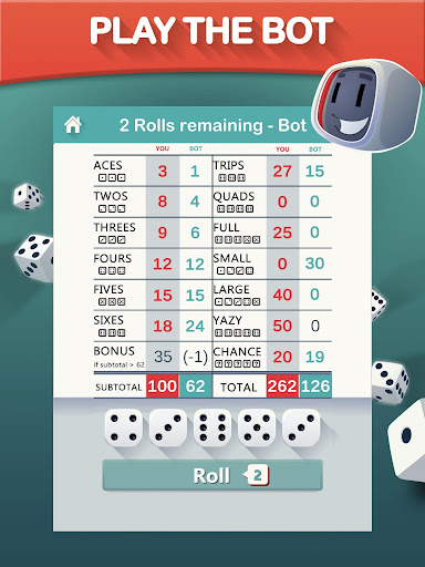 Yazy the best yatzy dice game 1.0.34 screenshots 12