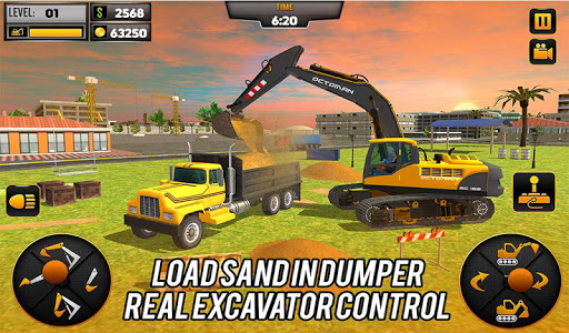 Heavy Excavator Crane Game Construction Sim 2019 apkdebit screenshots 1