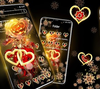 Red Gold Shiny Rose Theme 1.1.2 Mod APK Latest Version 1