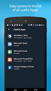 BlackBerry Enterprise BRIDGE Screenshot