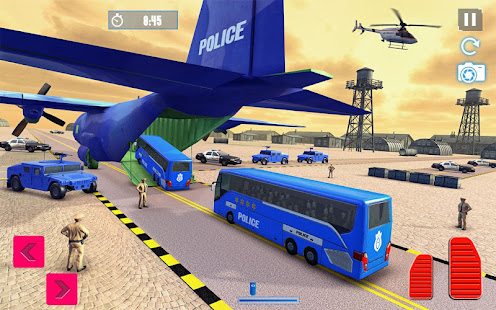 Police Plane Transport: Cruise Transport Games 1.12 Screenshots 10
