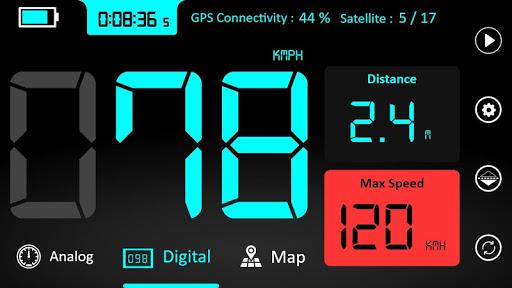GPS Speedometer : Odometer and Speed Tracker App  Screenshots 1