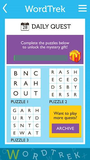 Word Trek - Word Brain streak - hand made puzzles 1.4.12 screenshots 7