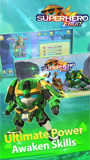 Superhero Fruit: Robot Wars - Future Battles apkmartins screenshots 1