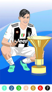 Live football coloring by number