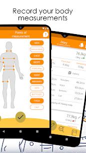 Body Diary Mod Apk Weight Loss Tracker (Full Unlocked) 3