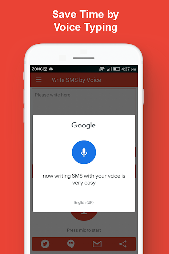 write sms by voice keyboard : audio to text typing screenshot 2