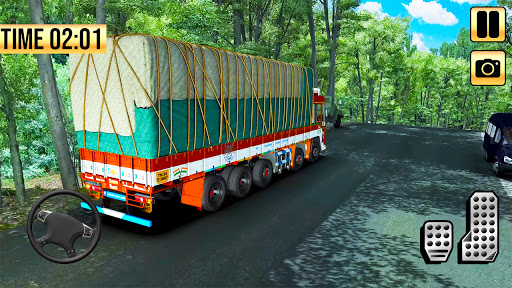 Indian Truck Simulator 2021: New Lorry Truck Games apkpoly screenshots 1