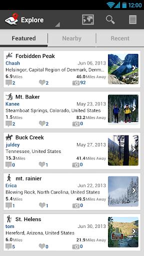 ramblr (hiking, gps, map) modavailable screenshots 4