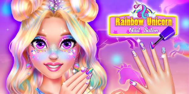 Rainbow Unicorn Nail Beauty Artist Salon 1.4 screenshots 1
