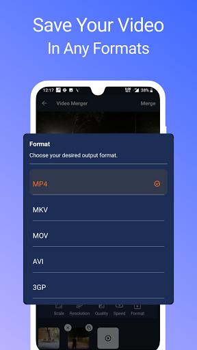 Video Merger, Joiner (MP4, 3GP, MKV,MOV, AVI) modavailable screenshots 4