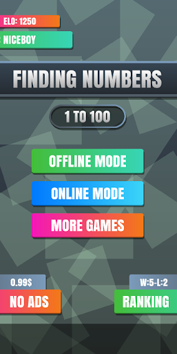 finding numbers 1 to 100 puzzle online screenshot 1