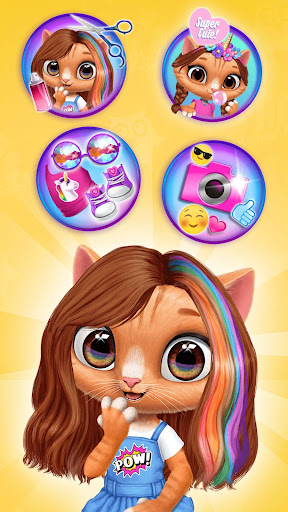 Amy's Animal Hair Salon - Cat Fashion & Hairstyles android2mod screenshots 2