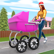 Virtual Happy Family Mother Game: Family Life