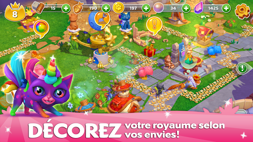 Télécharger Cats & Magic: Dream Kingdom mod apk screenshots 4