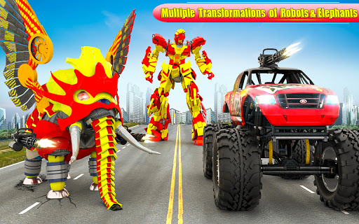Flying Monster Truck Transform Elephant Robot Game 2.0.9 Screenshots 6