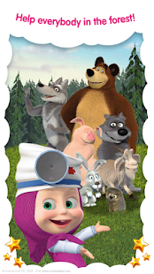 Masha and the Bear: Free Animal Games for Kids Screenshot