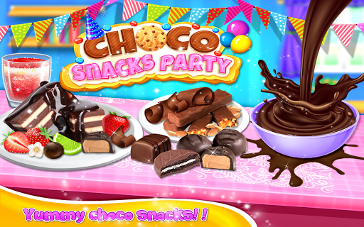 Choco  Snacks Party - Dessert Cooking Game  screenshots 1