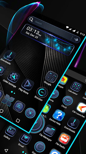 Cool Black Launcher Theme modavailable screenshots 3