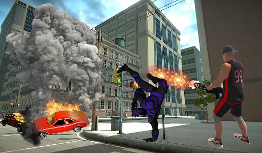 Super Black Hero Rope  screenshots 2