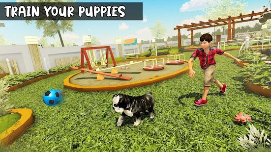 家族ペット犬ホームアドベンチャーゲーム