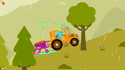 Dinosaur Farm - Tractor simulator games for kids apklade screenshots 2