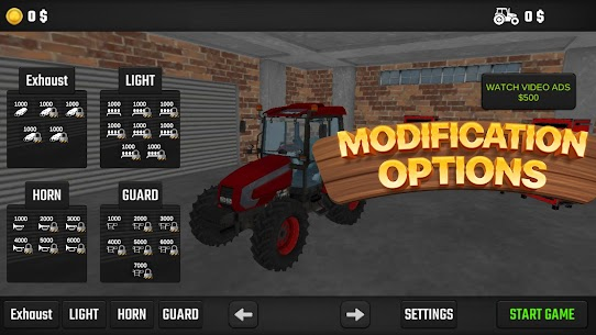 Real Farm Tractor Game 2021 3D Apk 2