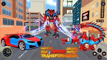 Grand Scorpion Robot Transform: Car Robot Games