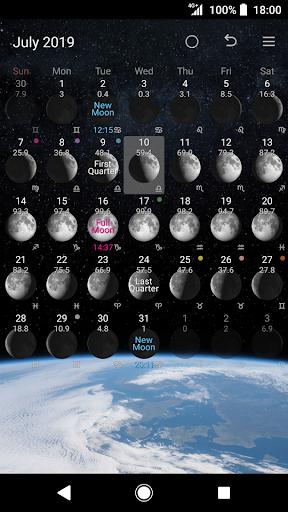Simple Moon Phase Calendar 1.2.07 Screenshots 5