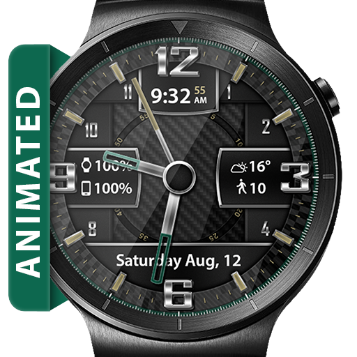 Carbon Fiber HD Watch Face Widget & Live Wallpaper Icon