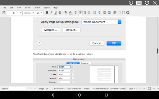 AndroDOC editor for Doc & Word 4.0.8 Screenshots 11