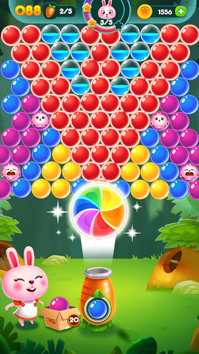 Bubble Bunny: Animal Forest Shooter apkpoly screenshots 2