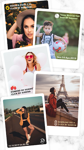 Shot On Stamp Photos with ShotOn Watermark Camera 1.3.1 Screenshots 4