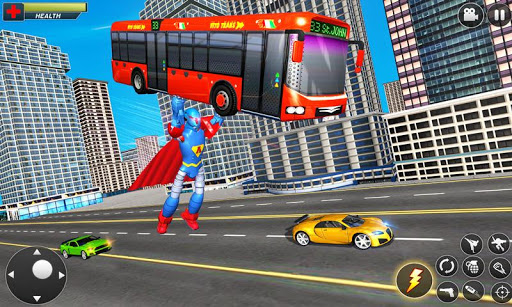 Flying Hero Robot Transform Car: Robot Games 2.1.3 screenshots 4