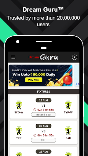 Dream Guruu2122 - Dream11 Prediction & Tips apktram screenshots 1