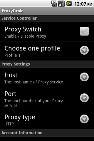ProxyDroid 3.2.0 for PC 1