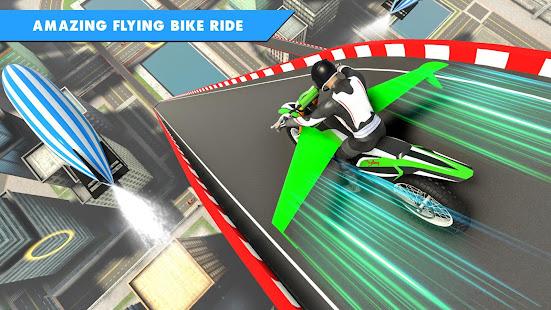 Flying Bike Stunt Racing- Impossible Stunt Games 2.1 Screenshots 2