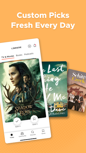 Likewise: Movie, TV, Book, Podcast Picks screenshots 2